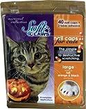 Feline Soft Claws 40-Pack Pet Halloween Colors Nail Cap Kit, Large, Black and Orange, My Pet Supplies