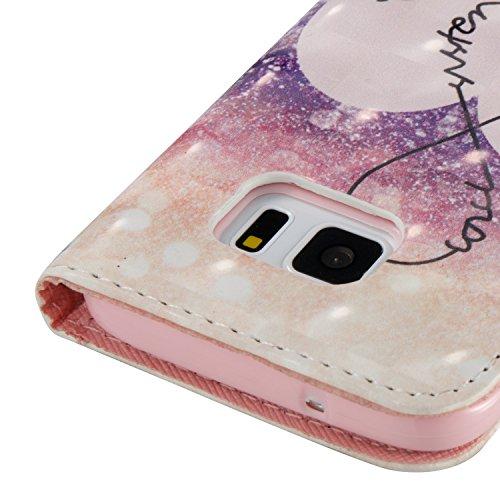pelle Edge in Protettiva Magnetica chiusa con JEPER Custodia Galaxy Samsung Stand Flip Pu Pelle Portafoglio Galaxy Cover Bookstyle per Case 05 Edge S7 S7 TaqUE