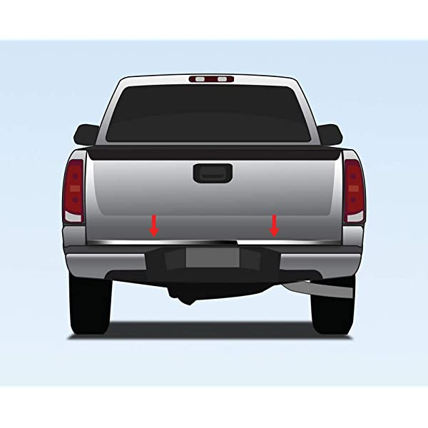2007-2013 Chevy Silverado Tailgate Trim Molding Outline Stainless Steel Accent