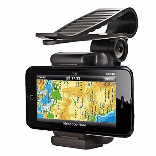 360 Car Sun Visor Mount Cradle Kit For Various Mobile Phones & GPS - 3