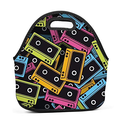 WWQE-B Music Tape Reminiscence Lunch Tote Bag