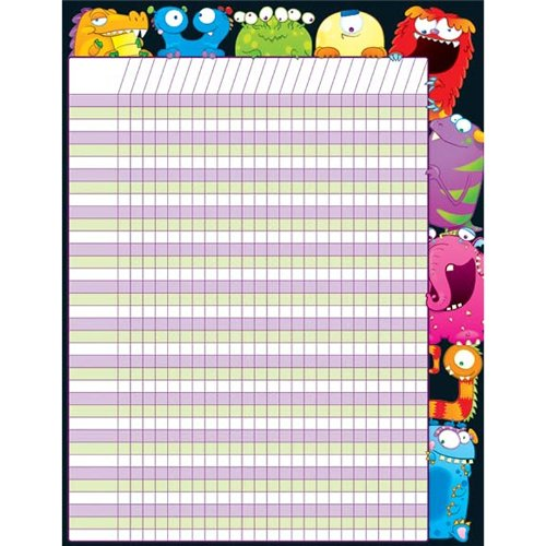 - CARSON DELLOSA MONSTERS CHARTLET (Set of 12)