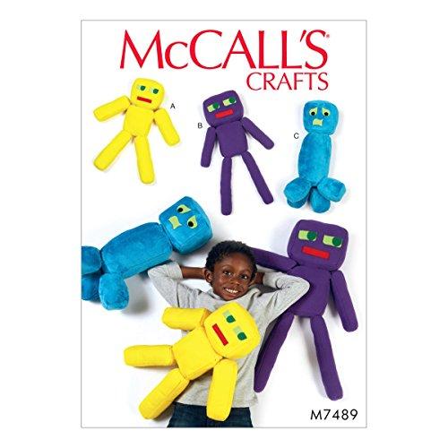 Plush Toy Pattern - MCCALLS M7489 Plush Robot Toys SEWING PATTERN