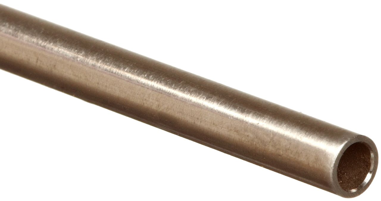 31 Gauge 36 Length 0.005 ID 0.0025 Wall Stainless Steel 304 Hypodermic Tubing 0.01 OD