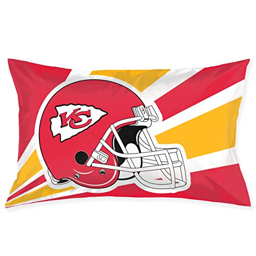 - Marrytiny Custom Pillowcase Colorful Kansas City Chiefs American Football Team Bedding Pillow Covers Rectangular Pillow Cases for Home Couch Sofa Bedding Decorative - 20x30 Inches