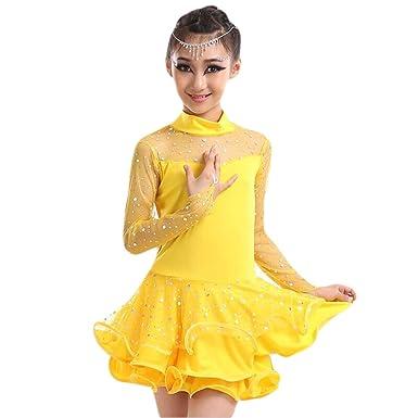 Vestido de Baile Latino Niña Traje Salsa Tango Disfraz Tutú ...