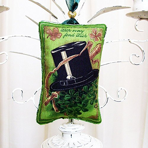- With Every Fond Wish Irish Ornament / ME2Designs Handmade Textile Home Decor
