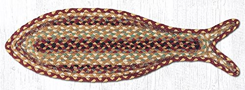 Capitol Importing 63-357F Fish Shape Rug, Burgundy from Capitol Importing