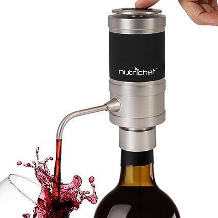 Aireador de vino eléctrico – Portátil de acero inoxidable y grifo monomando automático de botella del