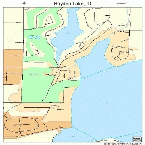 Amazon Com Large Street Road Map Of Hayden Lake Idaho Id
