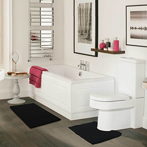MAYSHINE Bathroom Rug Toilet Sets Shaggy Non Slip Machine Washable Soft Contour
