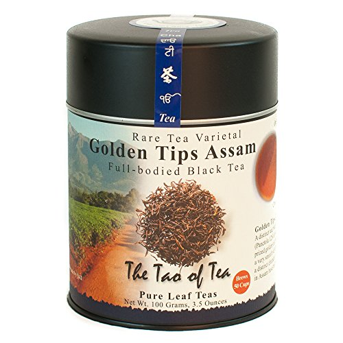 The Tao of Tea, Golden Tips Assam Black Tea, Loose Leaf, 3.5 Ounce Tin