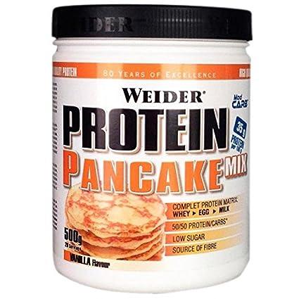 Weider Protein Pancake Mix, Tortitas de Avena Integral Enriquecidas con Proteínas, Sabor Vainilla -