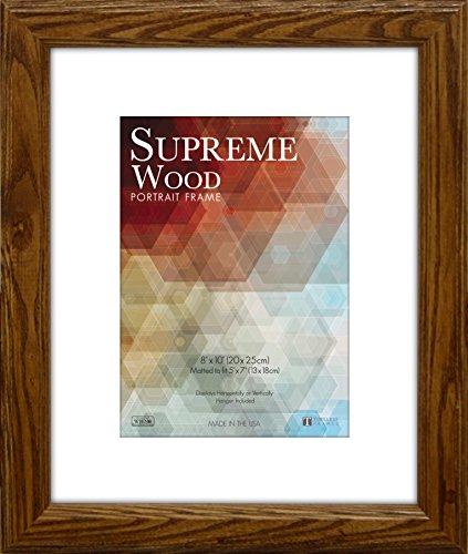 12 Wood Picture Frame Frames - Timeless Frames 12x16 Inch Fits 9x12 Inch Photo Supreme Solid Wood Wall Frame, Honey