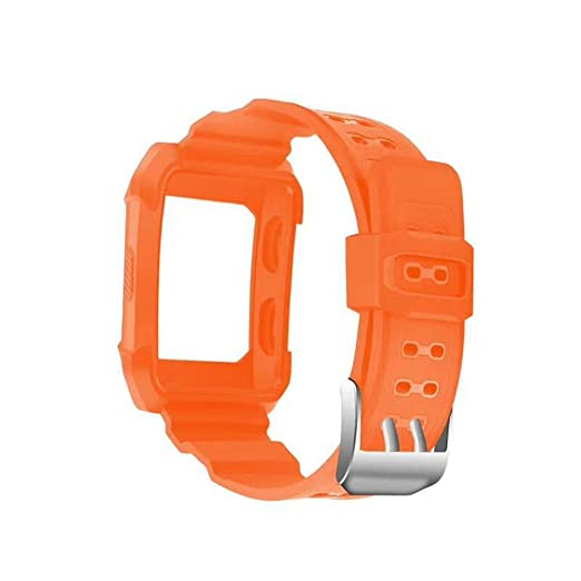 Auntwhale Sport Silicone Band with Silicone Frame Watch Strap with Frame Watch Replacement band Unisex for