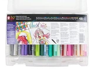 Koi Sakura XBR-48SA Assorted Coloring Brush Pen Set, Multicolor, 48-Piece (B007WDUJWM)   Amazon price tracker / tracking, Amazon price history charts, Amazon price watches, Amazon price drop alerts