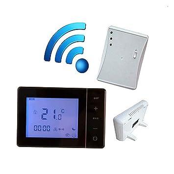 Bodbii Caldera 433MHZ Gas Wireless Termostato RF de Control 5A Caldera Mural Controller Calefacción Termostato Digital
