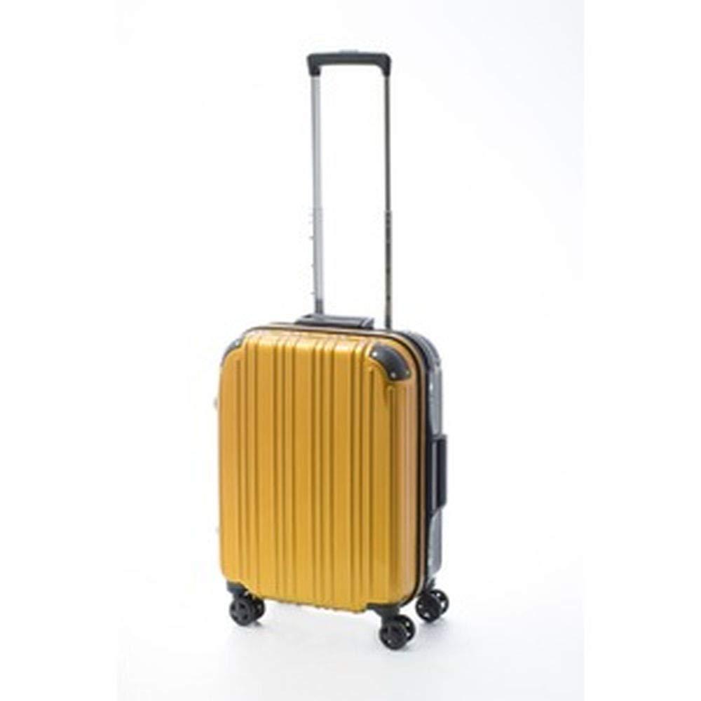 ツートンカラースーツケース/キャリーバッグ-Sサイズイエロー/ブラック-33L『アクタス』- B07TRWPL9V