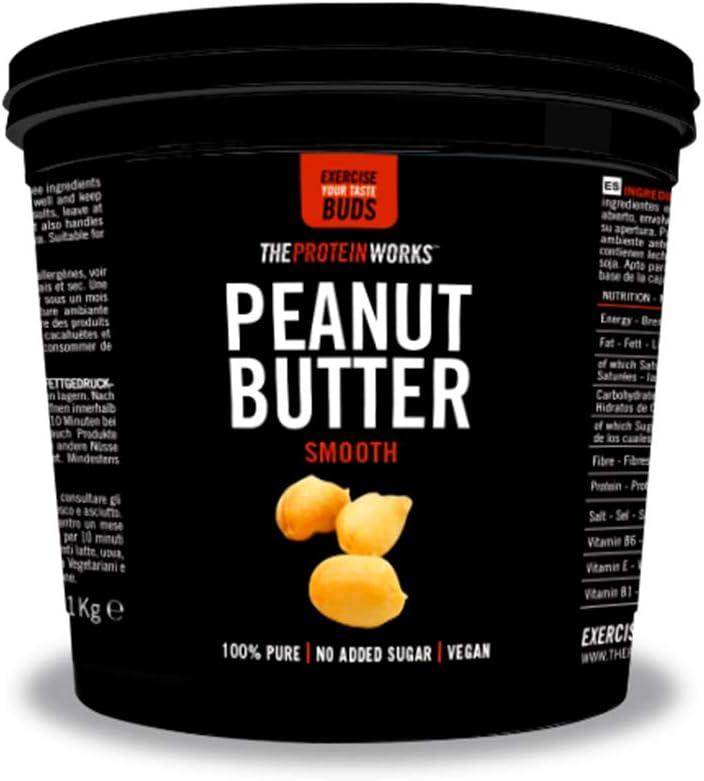 Burri alle noci - The Protein Works - Ricchi di proteine e prodotti solo con noci al 100% naturali - Senza sale e zuccheri aggiunti (Arachidi, Cremoso)