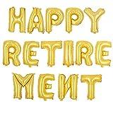 "Health & Personal Care : TTCOROCK ""HAPPY RETIREMENT"" Letter Foil Balloons - Retirement Party Decoration ,Gold"