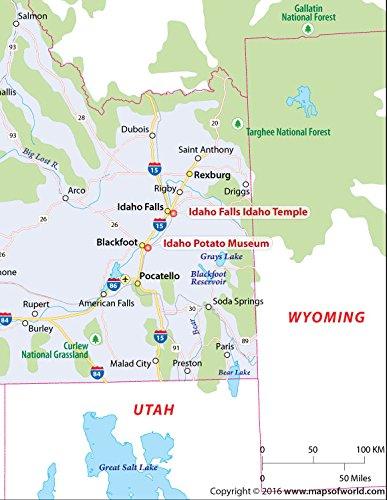 Amazon Com Idaho Map Laminated 36 W X 46 63 H Office Products