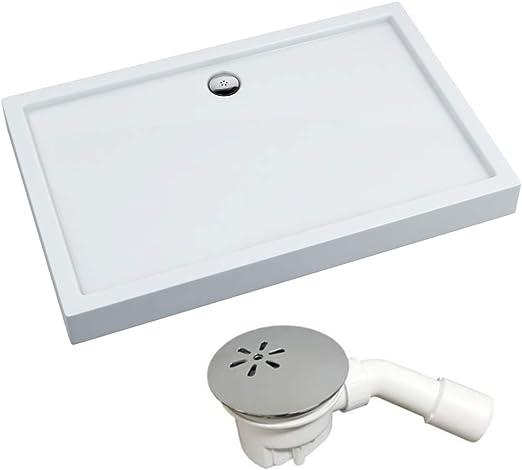 Plato de ducha rectangular VBChome para cabina de ducha, soporte ...
