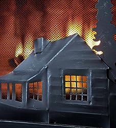 "Plow & Hearth Steel and Metal Mesh Fireplace Screen with Door, 44"" W x 12.5"" D x 33"" H, Black"