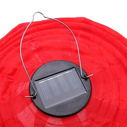 lzndeal 4pcs 30CM Waterproof Solar Lantern Solar Outdoor Hanging Lights LED Holiday Lights Hanging Lantern Chinese Celebration