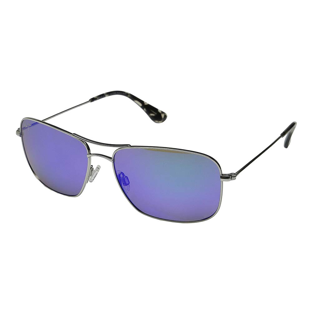 Maui Jim Wiki B246-17 | Sunglasses | |, Silver - Blue Hawaii, with with Patented PolarizedPlus2 Lens Technology by Maui Jim