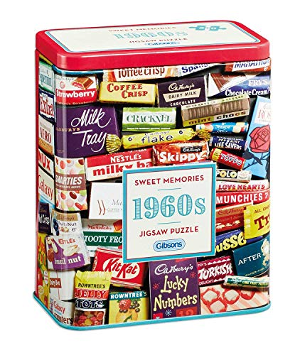 1960s Tin - Gibsons 1960s Sweet Memories Jigsaw Puzzle in Gift Tin (500 Pieces)