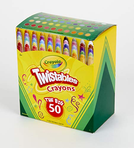 Crayola Mini Twistables Crayons, Amazon Exclusive, 50 Count, Great for Coloring Books, -