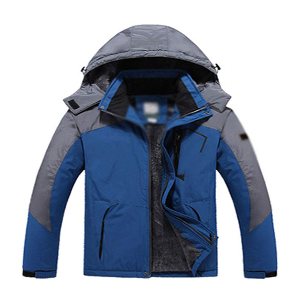 SHR-GCHAO Winter Outdoor-Jacke Berg Kleidung warm und Winddicht wasserdicht Plus Velvet Large Size Riding Ski-Mantel,Blau,XL