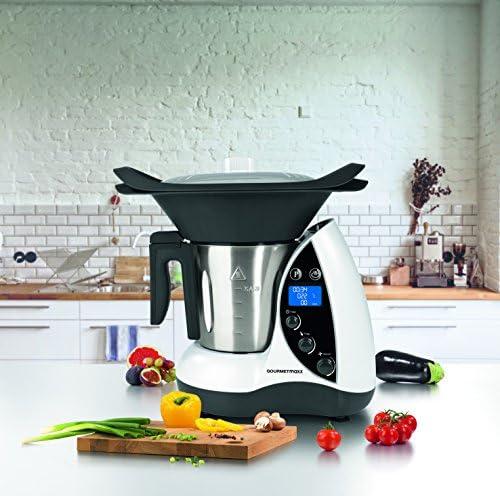TV Unser Original 09747 Gourmet maxx - Robot de cocina 9 en 1, 1500 W, blanco y negro: Amazon.es: Hogar