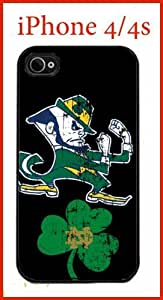 NCAA Notre Dame Fighting Irish iPhone 4 4s Case Hard Silicone Case