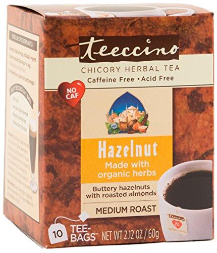 Teeccino Herbal Coffee, Hazelnut, 10 (Teeccino Hazelnut Herbal Coffee)