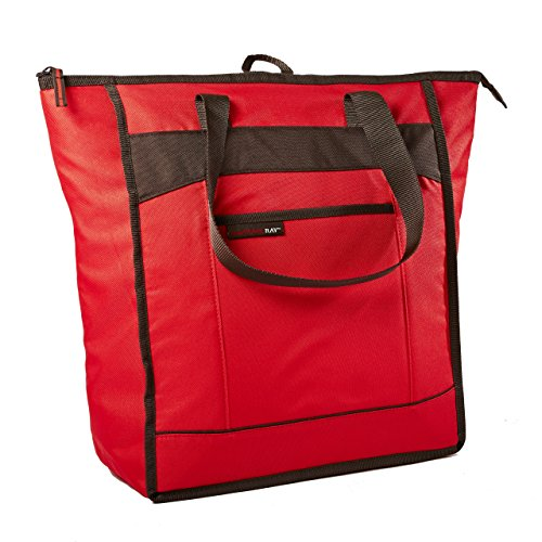 - Rachael Ray Chillout Insulated Tote, Cooler Bag for Grocery Shopping, Transport Hot and Cold Food, Tailgates, Camping, Beach, Reusable, Red