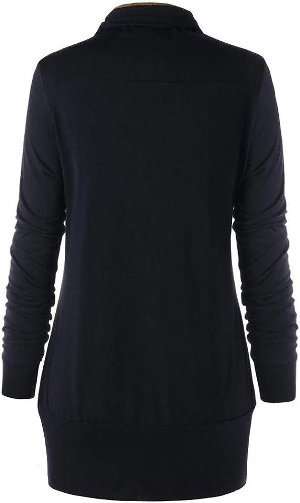 TOPKEAL Hoodie Pullover Damen Herbst Winter Langarm Plaid Kapuzenpullover Sweatshirt Rollkragen Tartan Winterpullover Jacke Mantel Tops Mode 2019