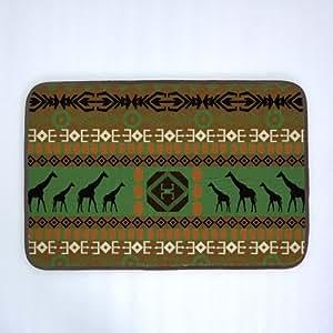 Bobbit africana ciervos antideslizante comodidad puerta alfombrillas para multiusos para baño/alfombrilla de cocina/decoración de estaciones de trabajo