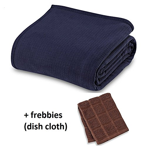Berkshire Blanket Polartec Softec KING Blanket in MIDNIGHT BLUE +++ Freebbies (Dish cloth) by *Berkshire Blanket Polartec Softec
