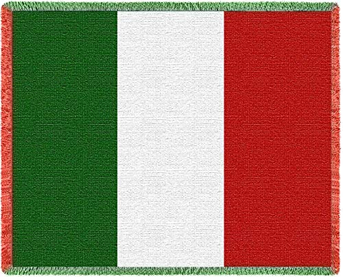 (Pure Country Weavers Italy Flag Woven Throw Blanket with Fringe by Artisan Textile Mill USA 70x50 Cotton)