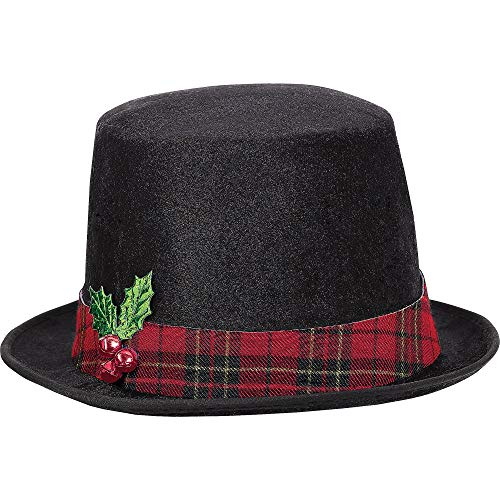 amscan Snowman Top Hat | Christmas Accessory (Snowman With Corn Cob Pipe And Button Nose)
