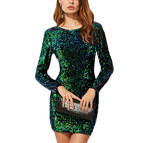 Iridescent Short Dress Cocktail Dress - 9