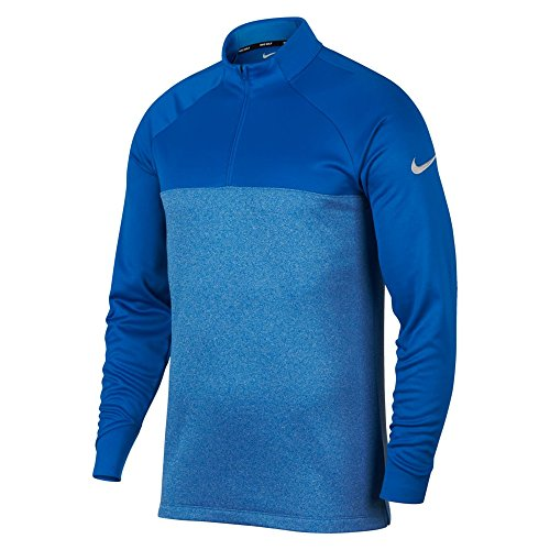 Nike Therma Fit Top Half Zip Core Golf Pullover 2018 Blue Nebula/Heather/Flat Silver (Golf Pullover)