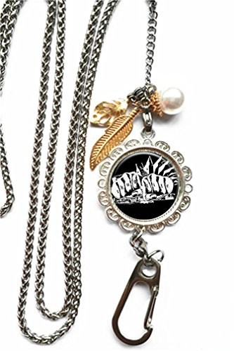 (RhyNSky Thug Life Chain Lanyard Necklace Bracelet Keychain Eyeglass Holder for ID Card Name Tag Badge Holder with Clasp, C1480)