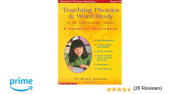 Amazon.com: Teaching Phonics & Word Study in the Intermediate ...