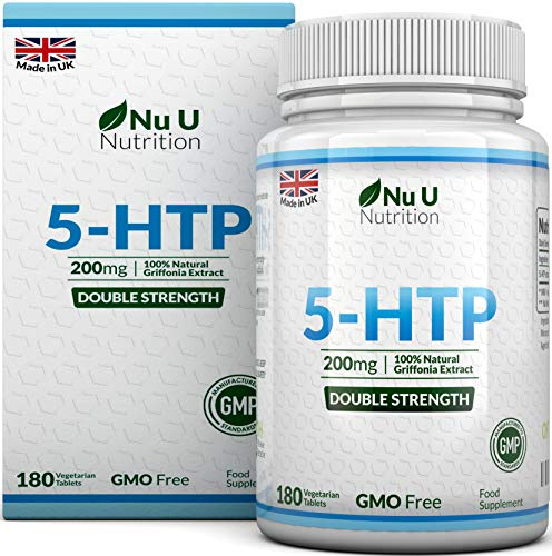Nu U Nutrition Double Strength 200mg 5-HTP 180 Tablets 6 Month Supply of High Strength 5HTP