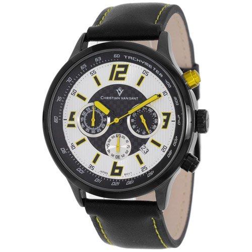 Christian Van Sant Men's CV3120 Speedway Analog Display Quartz Black Watch