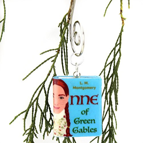 ANNE OF GREEN GABLES Lucy Maud Montgomery Clay Mini Book Christmas Ornament by Book Beads