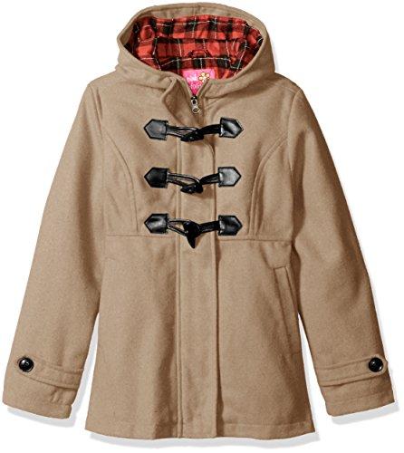 Pink Platinum Little Girls' Toggle Wool Jacket, Khaki, (Childs Toggle)