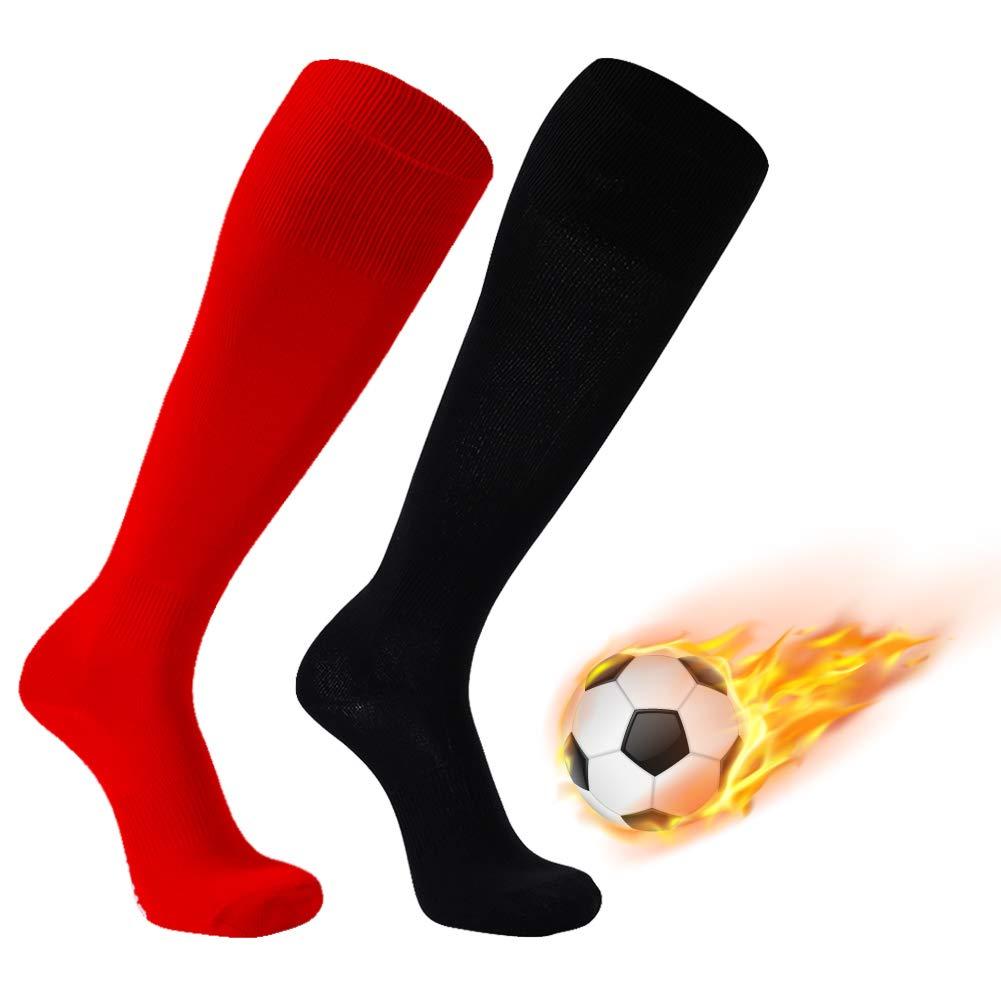 FOOTPLUS SOCKSHOSIERY ガールズ B07H5DNV1T 2 Pairs-red&black Large